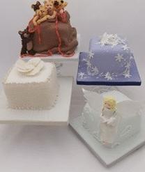 "Mini 4"" Christmas Cakes Class"