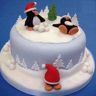 Christmas Cakes - Penguin Style Class