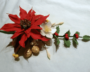 Christmas sugar flower Spray Class