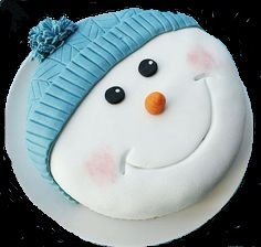 Christmas  Childrens Sponge Cakes - Snowman