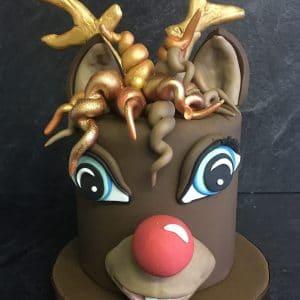 Christmas Sponge reindeer Cake -