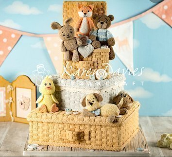 Karen Davies Masterclass - Basketweave toy box and knitted teddy