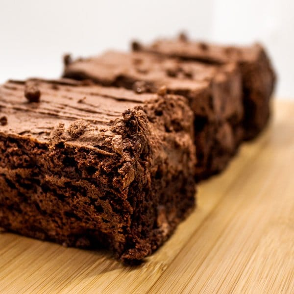Close up image of our baileys brownie selection