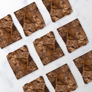 Image showing our biscoff brownie selection traybake