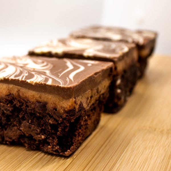 Close up image of our Millionaires Brownie