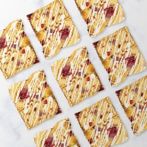 Image of our white chocolate and raspberry blondie selection