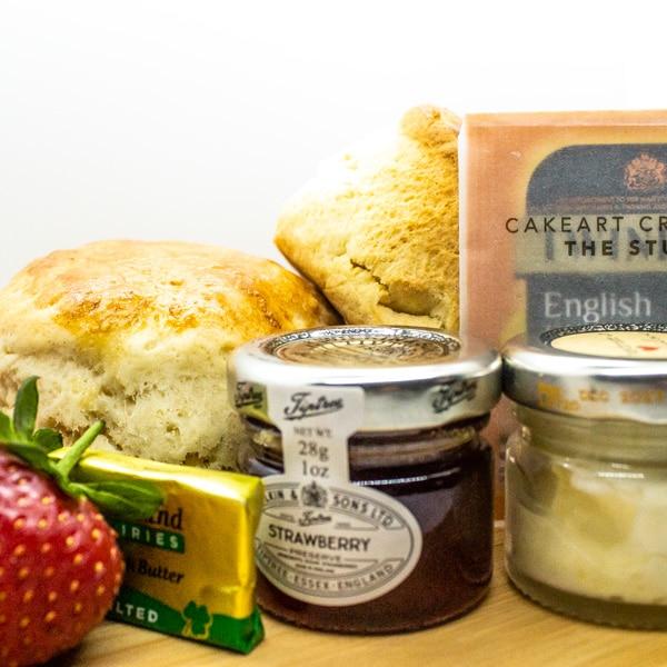 Delicious scones, jam and Cornish clotted cream