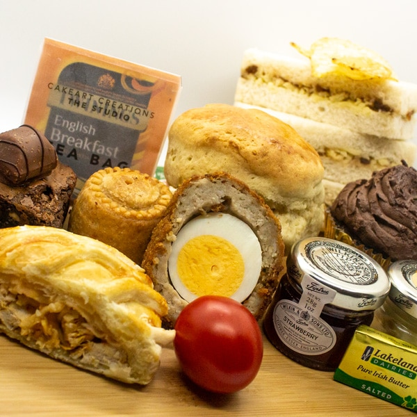 An image showing our delivered afternoon cream teas