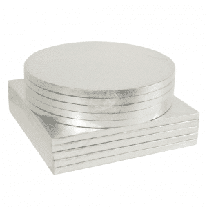 Square & Round Silver Cake drums